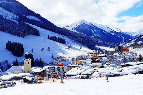 Saalbach, ideaal skigebied voor beginners