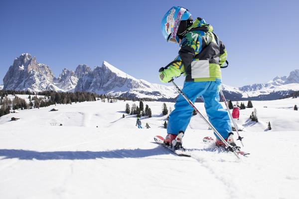 De Seiseralm is super kindvriendelijk skigebied in Italië