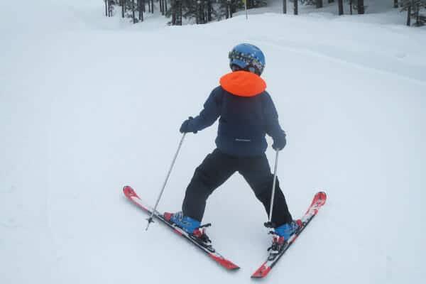 Skioefeningen met kinderen - achteruit skien