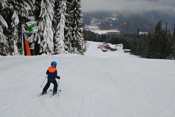 Wagrain - Sneeuw en Nolan op een lege piste
