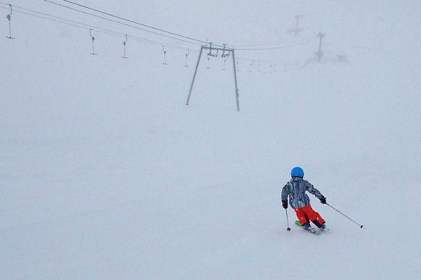 De eerste skidag op Dachstein 2019