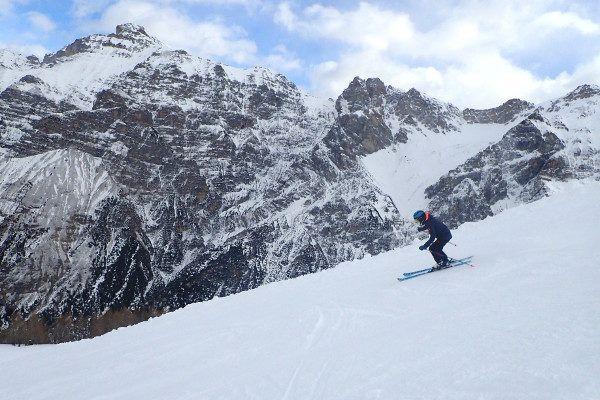 Skiën met een prachtige achtergrond in Neustift.