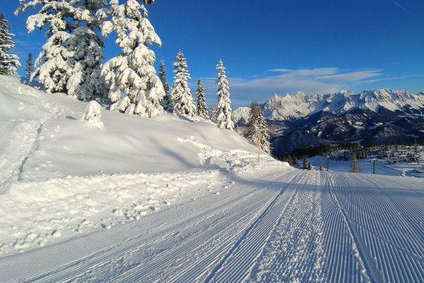 Skigebied Fageralm - lege pistes en alleen maar natuursneeuw