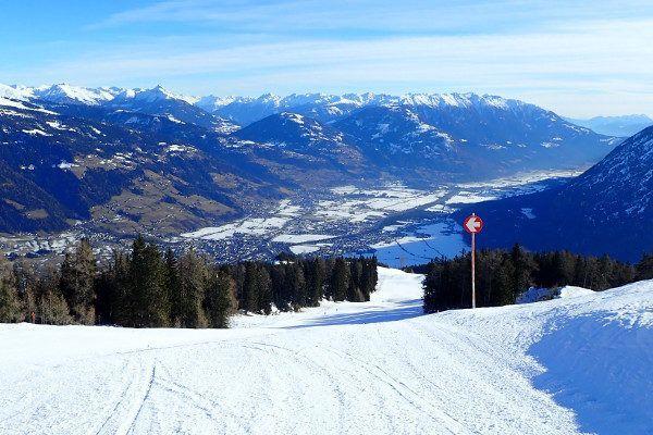 In skigebied Lienz Hochstein zijn de pistes leeg