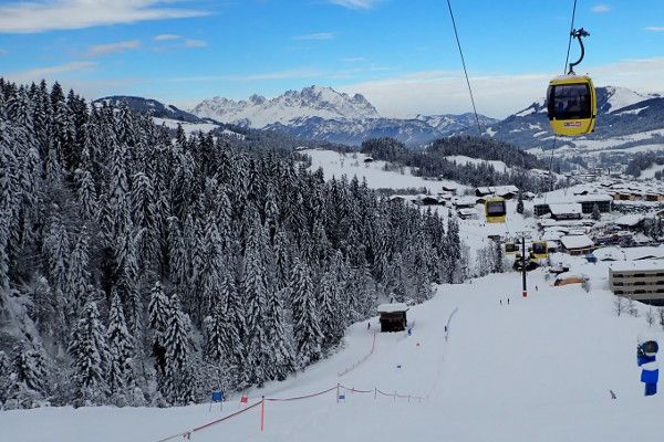 Skigebied Saalbach tips: De dalafdaling naar Fieberbrunn,