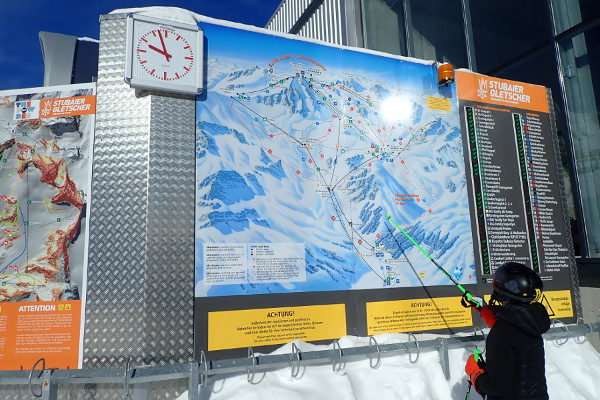 De Stubaier gletsjer, het grootste gletsjerskigebied van Oostenrijk.