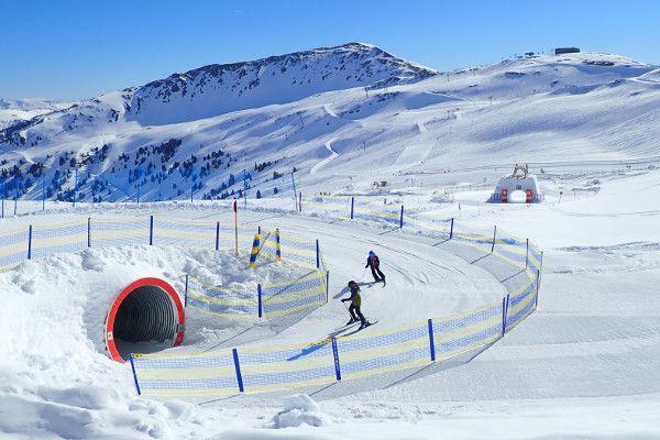 Kindvriendelijk skigebied Wildkogel Arena. Funslope