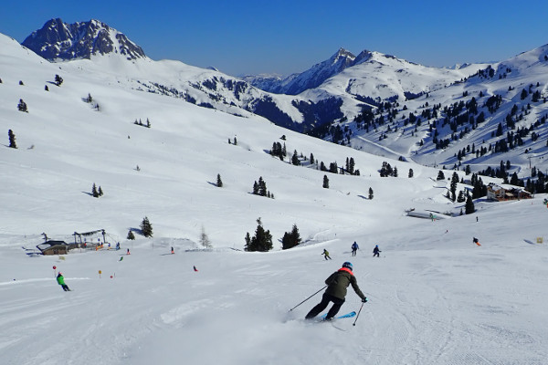 Sneeuwzeker skigebied Wildkogel Arena.