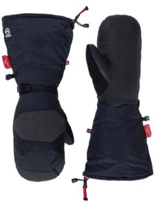 skihandschoenen over mouw