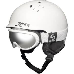 Sinner Combi - Witte skihelm dames
