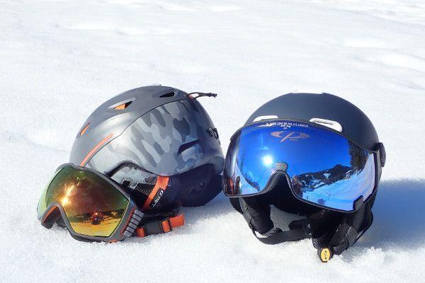 skihelm met of zonder vizier - visor skihelm