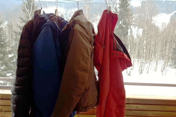 hardshell ski jas wassen