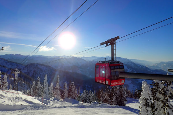 Hoeveel heb ik geskied? Check het met je skipas - skilift in Wagrain, zon en verse sneeuw
