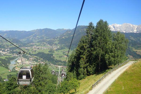 Skigebied in de zomer