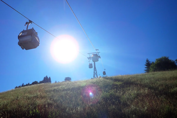 Skilift in de zomer - Geisterberg