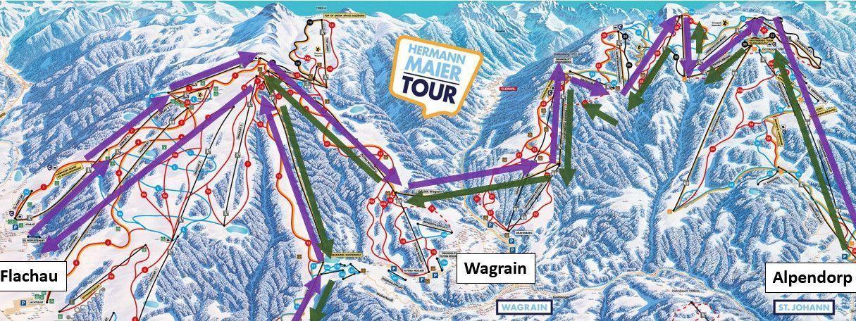 Skironde: Flachau - Wagrain - Alpendorf