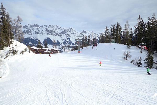 Skironde 4 bergen start in Reiteralm en eindigt in Hauser Kaibling
