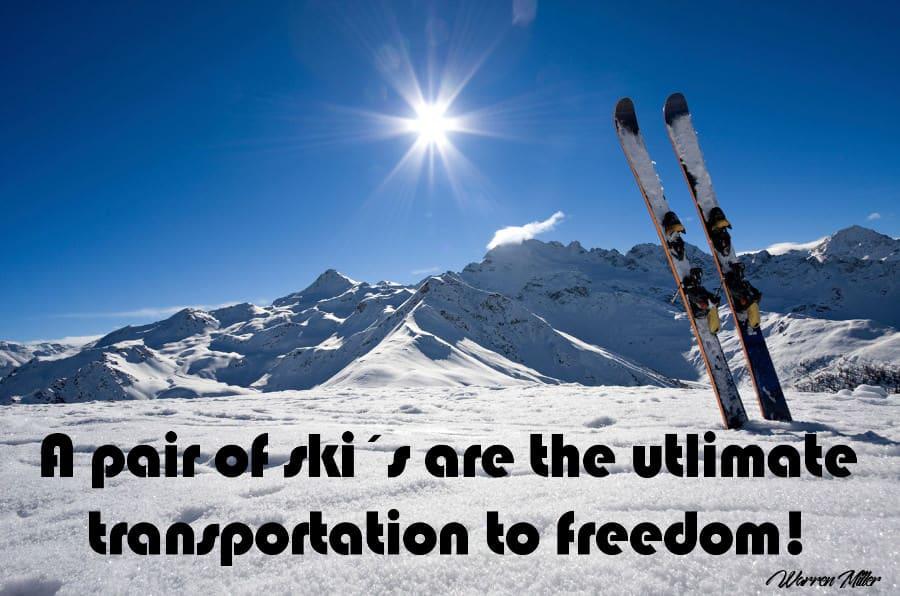 Ski's - vette quote