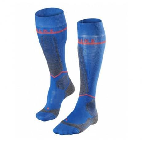 blauwe skisokken
