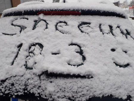 Live: nu 30 cm sneeuw, daarna koud en zonnig