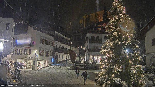 Een heerlijk kerstplaatje uit Schenna in Zuid Tirol