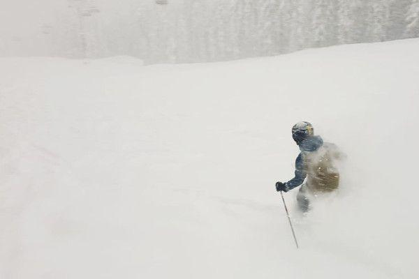 Sneeuw Daan in de poeder