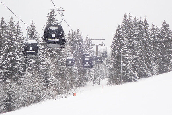 Sneeuw in Flachau