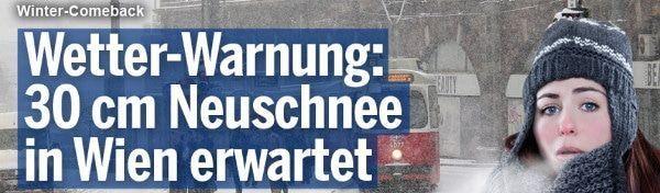 Sneeuw in Wenen - winter maakt comeback