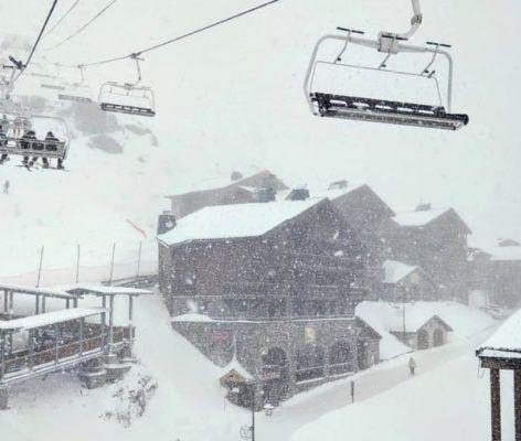 verse sneeuw in Val Thorens