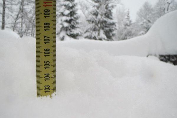 Sneeuwhoogte - 1 meter sneeuw