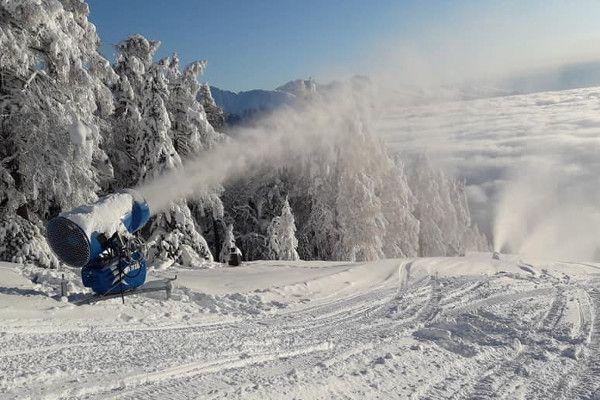 Sneeuwkanonnen aan in Fanningberg