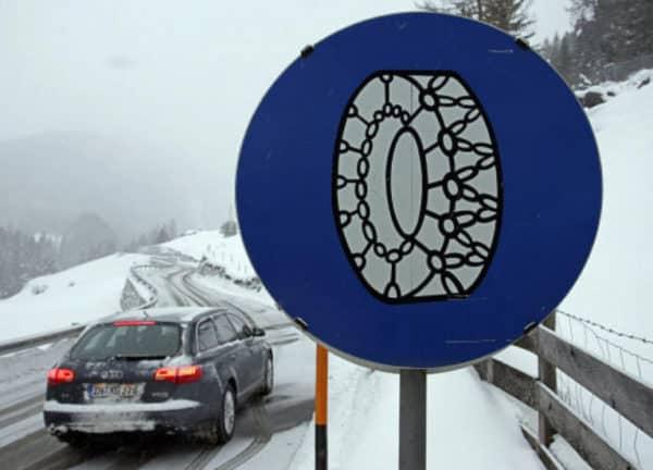 sneeuwkettingen - wnterbanden in Oostenrijk