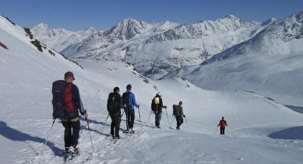 sneeuwschoenwandelen tocht