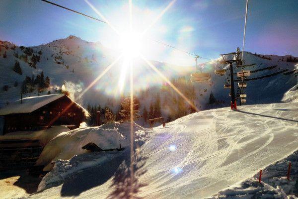 Sneeuwzeker Oostenrijk - flachau in de zon