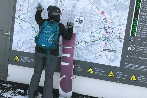 snowboarden Saalbach