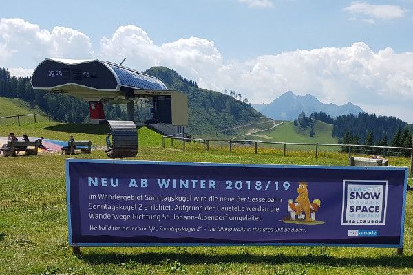 Skilift Sonntagskogel 2 in Wagrain wordt vernieuwd