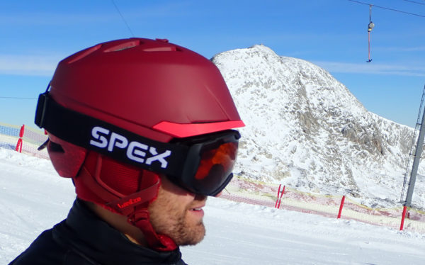 De spex skibril met verwisselbare lens
