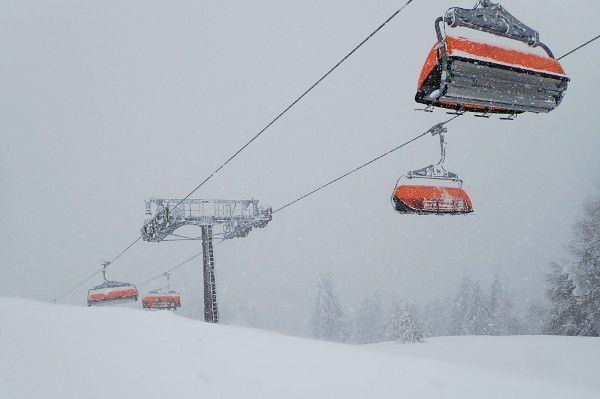 Koud in de skilift