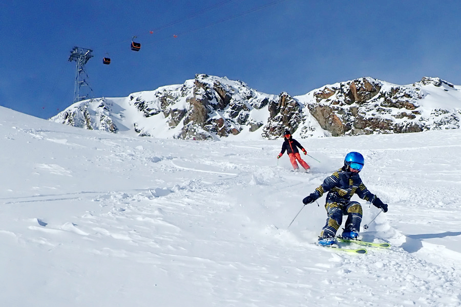 Skigebied in de buurt van Innsbruck: stubaital
