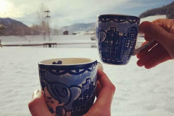 Warm blijven bij koud weer, goed drinken