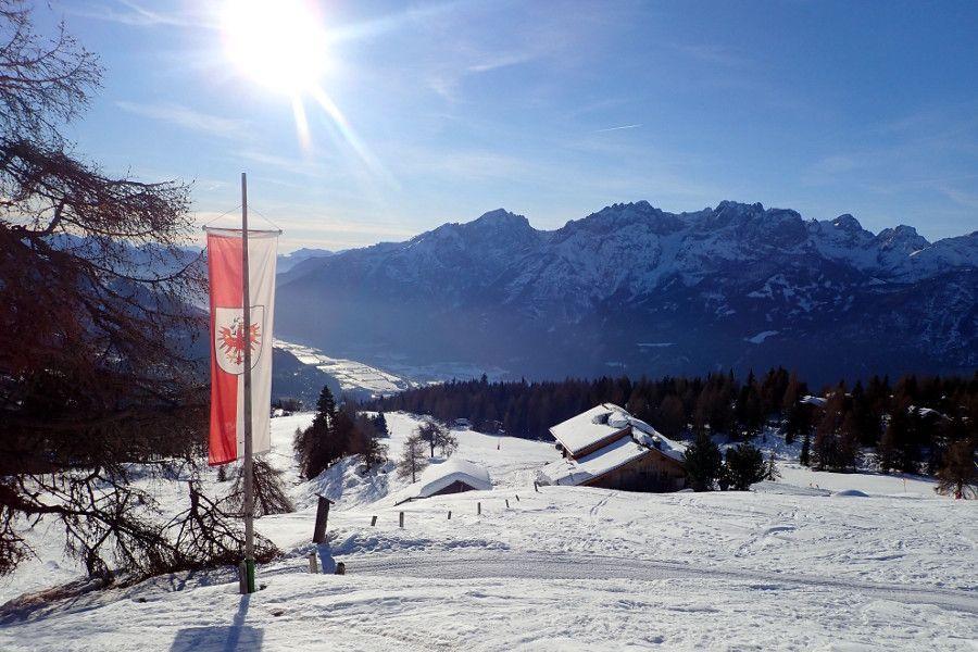 Vlag van Tirol in skigebied Lienz