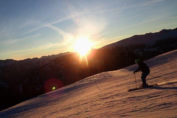 zonsondergang in Oost Tirol