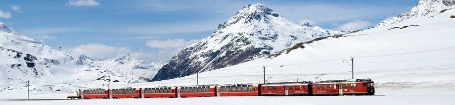 Trein op wintersport naar Frankrijk