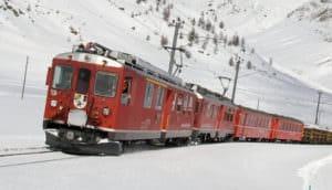Trein naar Oostenrijk - in de winter