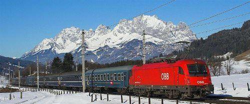 met de trein op wintersport is comfortabel reizen