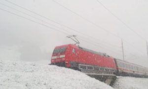 Livebeelden: flink pak sneeuw in Oostenrijk (06 mei. 2019)