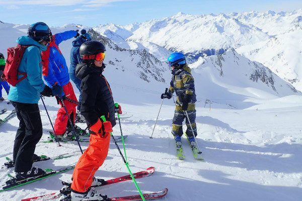 Uitzicht Stubaier gletsjer skigebied