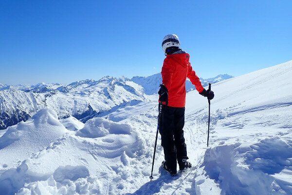 Op de top heb je een prachtig uitzicht op het Hohe Tauern massief.