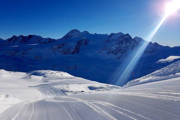 Val Senales skigebied bovenop de gletsjer