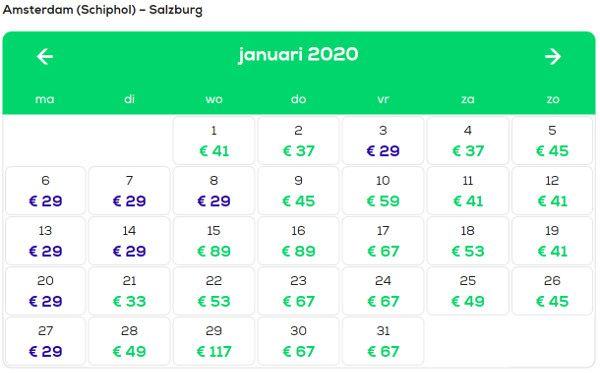 Wat kost een vliegticket naar Oostenrijk